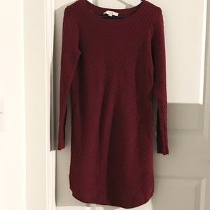 Loft maroon sweater dress